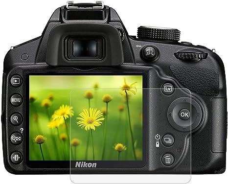 BYbrutek Protector de Pantalla de Vidrio Templado para Nikon D3200 ...