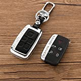 land rover discovery ii key case - Beamseed Metal with Leather Car Key Case for Land Rover Range Rover Sport Evoque Freelander 2 Discovery 4 Key Cover Holder Shell Key Fob Cover Key Wallet/Bag 1pc/lot