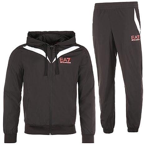 f9d598158 Emporio Armani EA7 tuta uomo fashion completo felpa pantaloni nero EU M (UK  38)