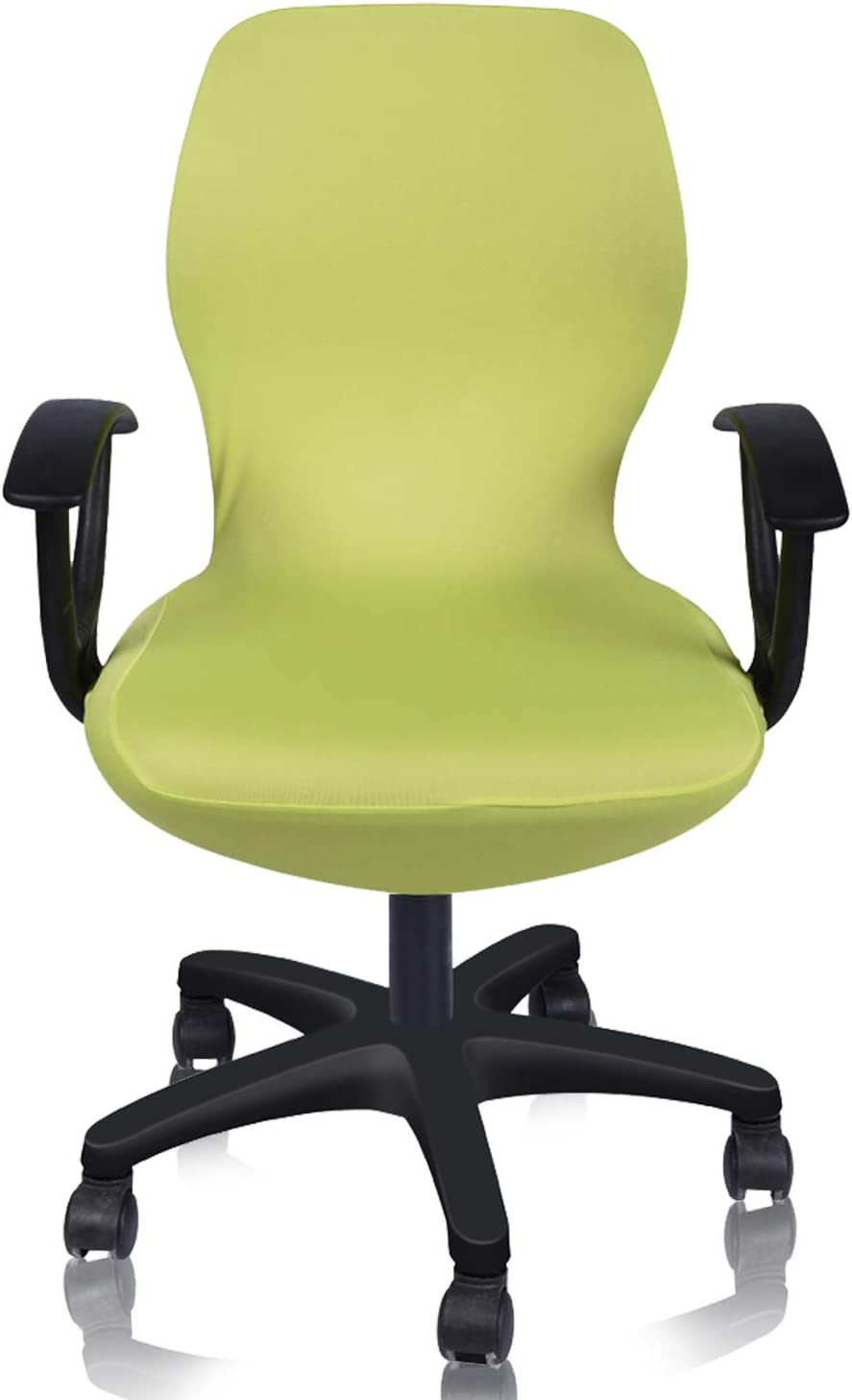 Deisy Dee Computer Office Chair Covers Pure Color Universal Chair Cover Stretch Rotating Chair Slipcovers Cover ONLY Chair Covers C098 (Lemon Green)