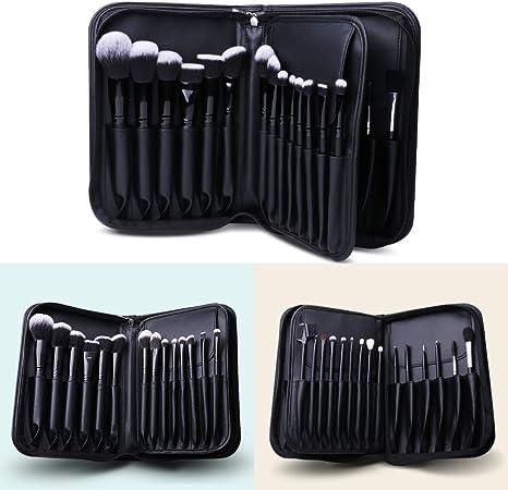 DUcare - Estuche organizador profesional para 29 brochas de maquillaje, color negro: Amazon.es: Equipaje
