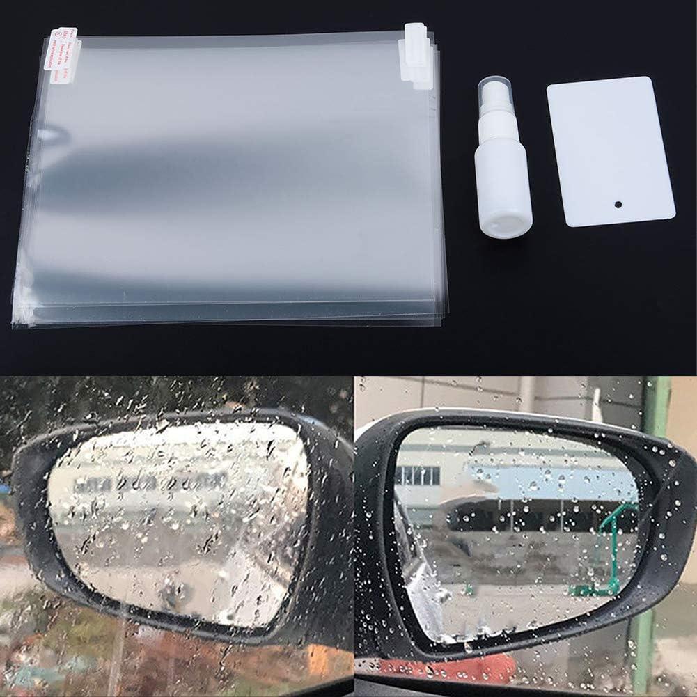 Ggaggaa 4 pezzi Specchietto retrovisore per auto Pellicola antipioggia idrofobica Pellicola salvaschermo per auto Durevole
