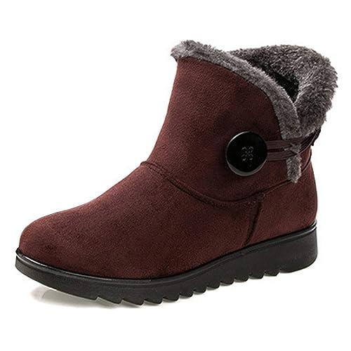Yefree Botas de Nieve para Mujer Pantalones Cortos Botines de Invierno Antideslizante Moda para Mujer Tobillo Botines Zapatos de algodón: Amazon.es: Zapatos ...
