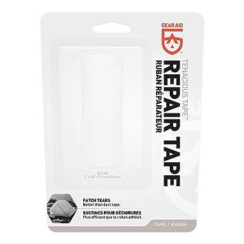 Gear Aid Tenacious cinta Ultra fuerte Flexible tela reparación - transparente - 10780-851, Reflective Gray: Amazon.es: Deportes y aire libre