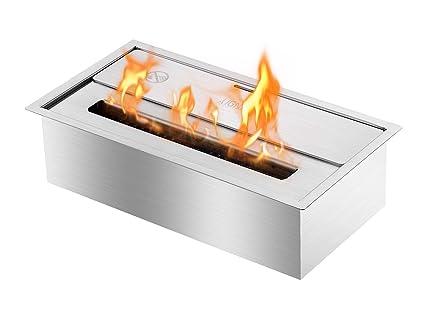 amazon com ignis eco hybrid bio ethanol fireplace burner vent less