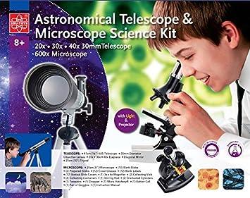 Teleskop und mikroskop set für den einstieg in kosmus und