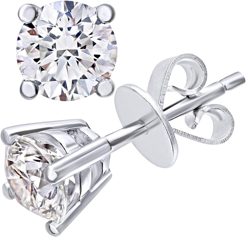 Naava - Pendientes para Mujer de Oro 18K con Diamante