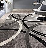 "Rugshop Modern Wavy Circles Desing Area Rug 5' 3"" x"
