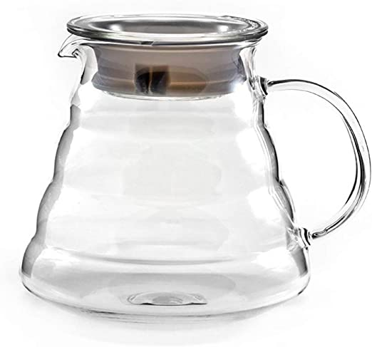 Hiware 600ml Coffee Server Standard Glass Coffee Carafe Coffee Pot Clear Coffee Servers