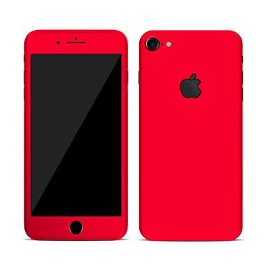 huge selection of 156fd 1206b Textured skin sticker for iPhone 7 & 7+ plus Full Body Wrap (iphone 7, matt  red)