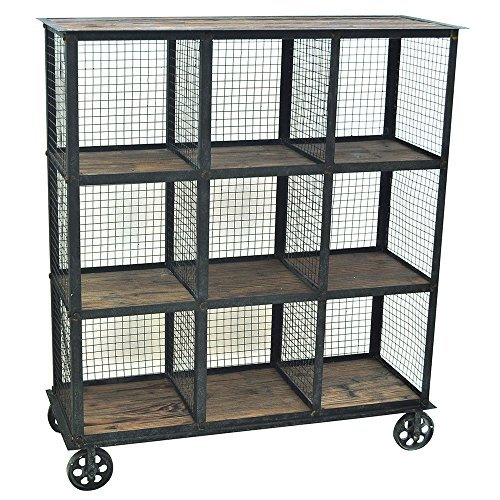 Crestview Collection Industria Metal and Wood Bookcase from Crestview Collection