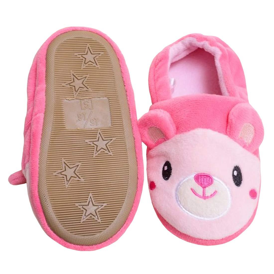 Beeliss Toddler Girls Slippers Cartoon Plush Warm Shoes BLS-8814