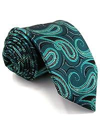 Shlax&Wing Dark Turquoise Paisley Mens Ties Neckties Silk New Design