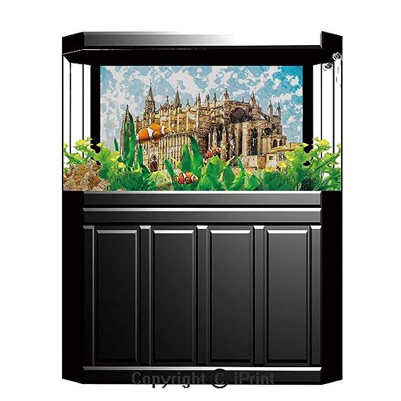 Amazon.com: Aquarium Decoration Background,Gothic Decor,Big ...