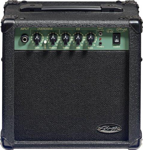 Amplificador de guitarra Stagg, Negro, 10 Watts
