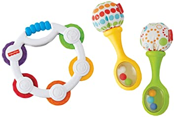 FREE SHIPPING new Fisher-Price Rattle and Rock Maracas Musical Toy kids baby