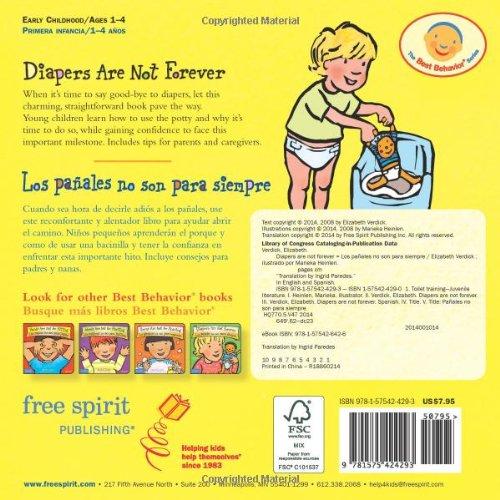 Diapers are Not Forever / Los Panales no son para Siempre Best Behavior: Amazon.es: Elizabeth Verdick, Marieka Heinlen: Libros