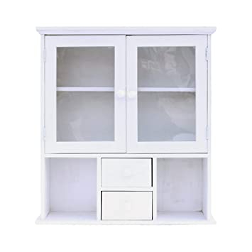 Rebecca Mobili Aparador para colgar, mueble de pared blanco ...