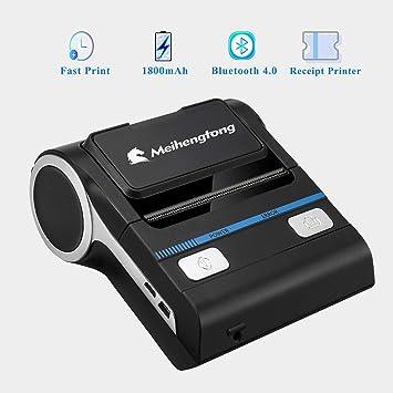 80 mm Impresora térmica Bluetooth recibo iOS Android POS USB Recibo Bill Billete Máquina Impresora MHT-P8001 Solo se Puede Imprimir en inglés, no se ...