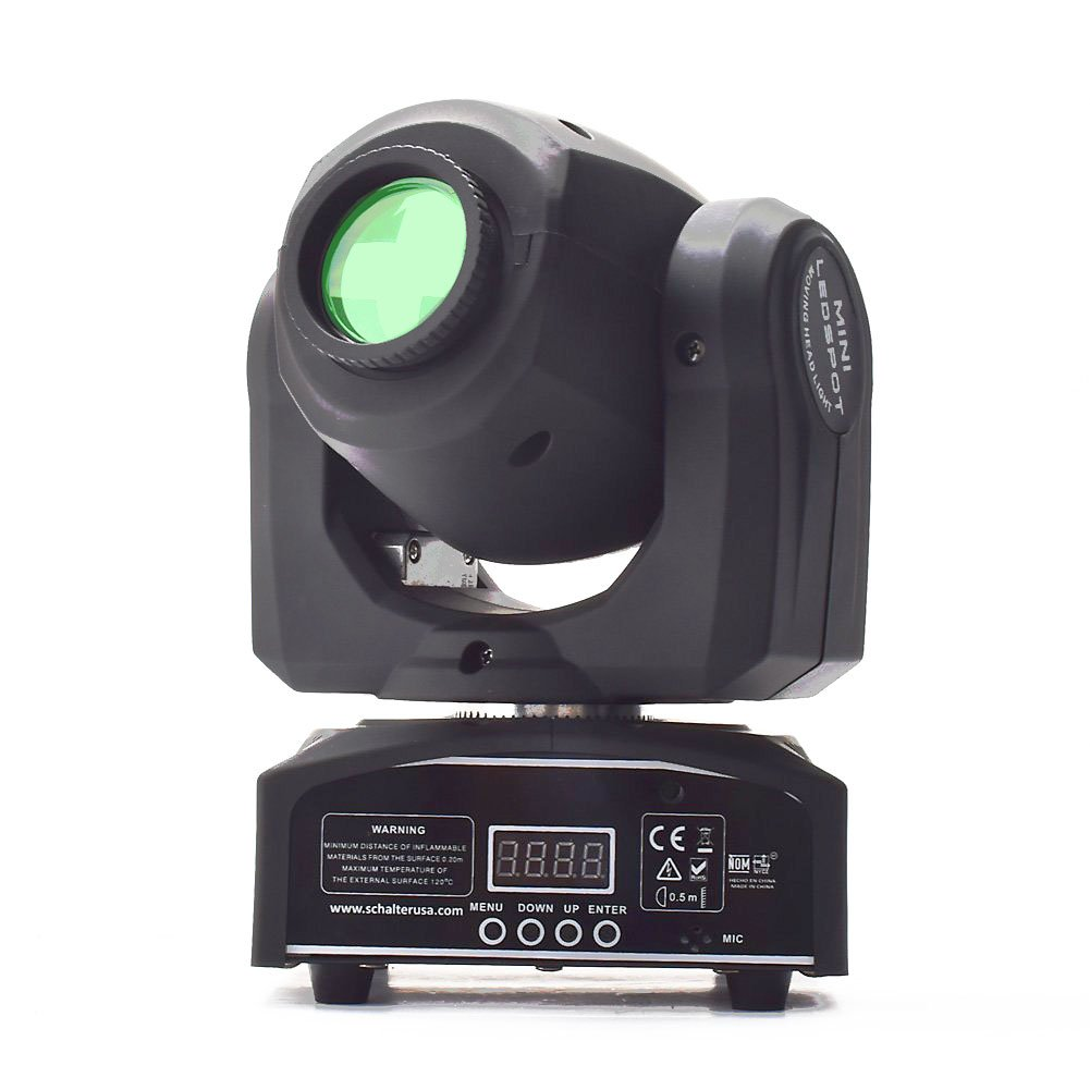 Eyourlife 10W LED Patterns DJ Stage Moving Head Light DMX512 Auto Stop for Club Party Show Lighting by Eyourlife