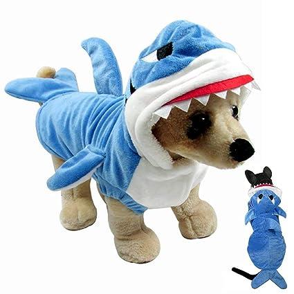 Amazoncom Gimilife Pet Costume Pet Shark Costume Outfit
