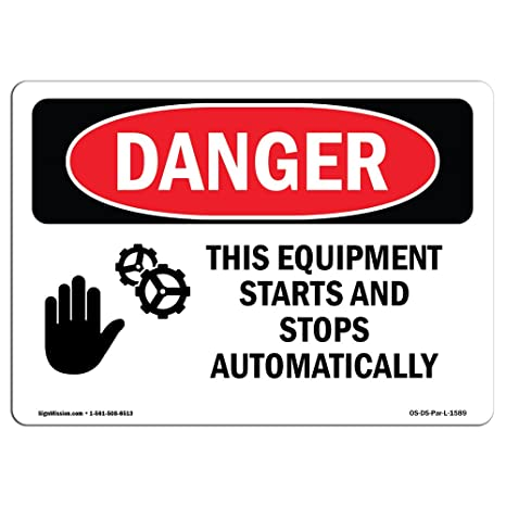 OSHA Caution Sign Starts and StopsMade in the USA