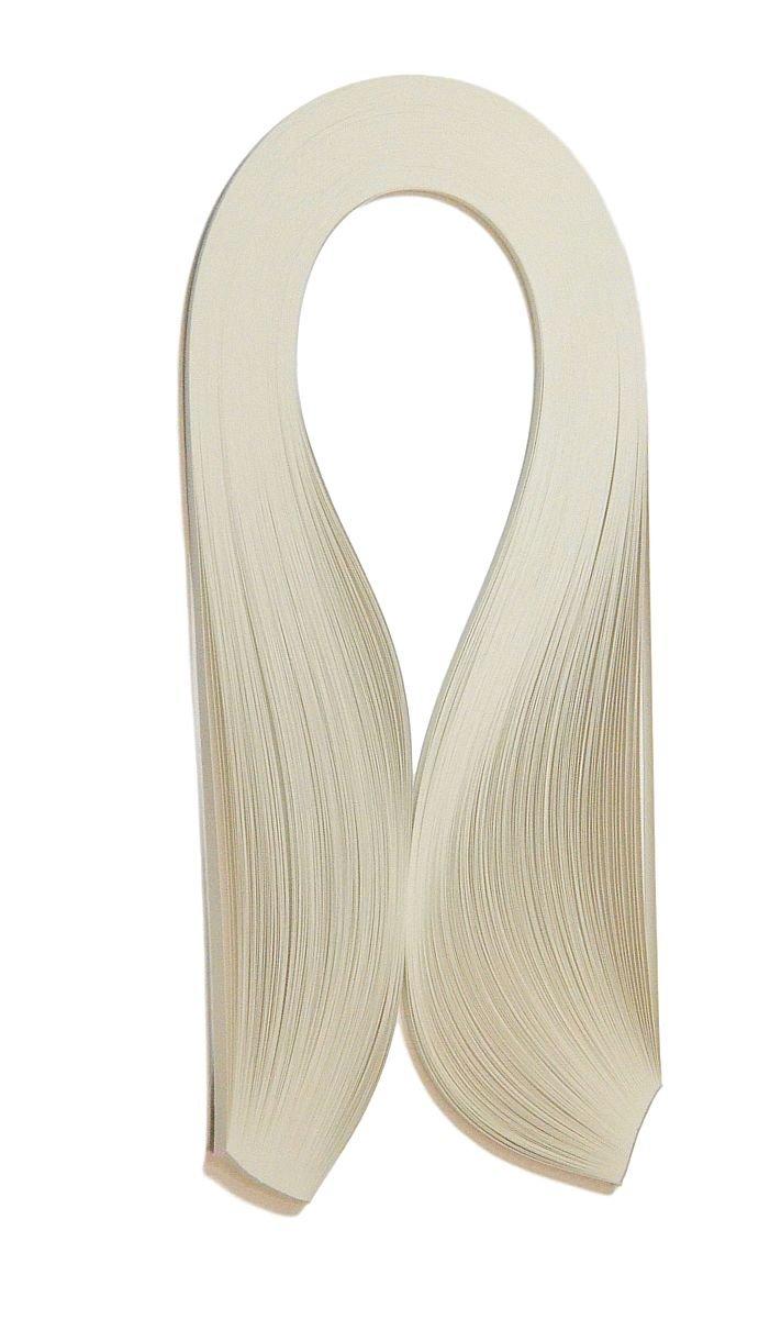 Quilling strisce, larghezza 5 mm, lunghezza 420mm, 125 pezzi, colore grigio perla Enitan