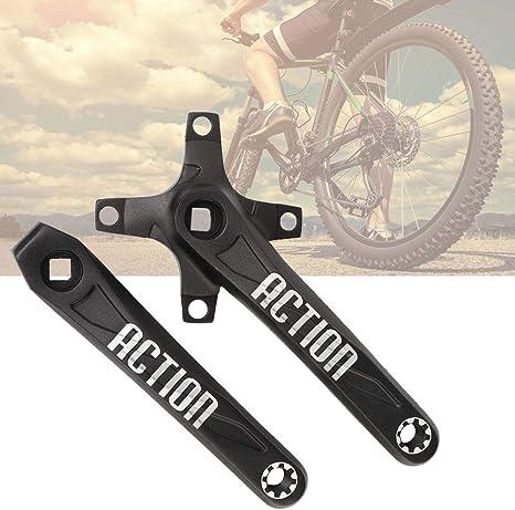 DaMohony Biela de aleación de aluminio para bicicleta izquierda y derecha, juego de manivela y manivela para la mayoría de bicicletas de montaña 170 mm: Amazon.es: Deportes y aire libre