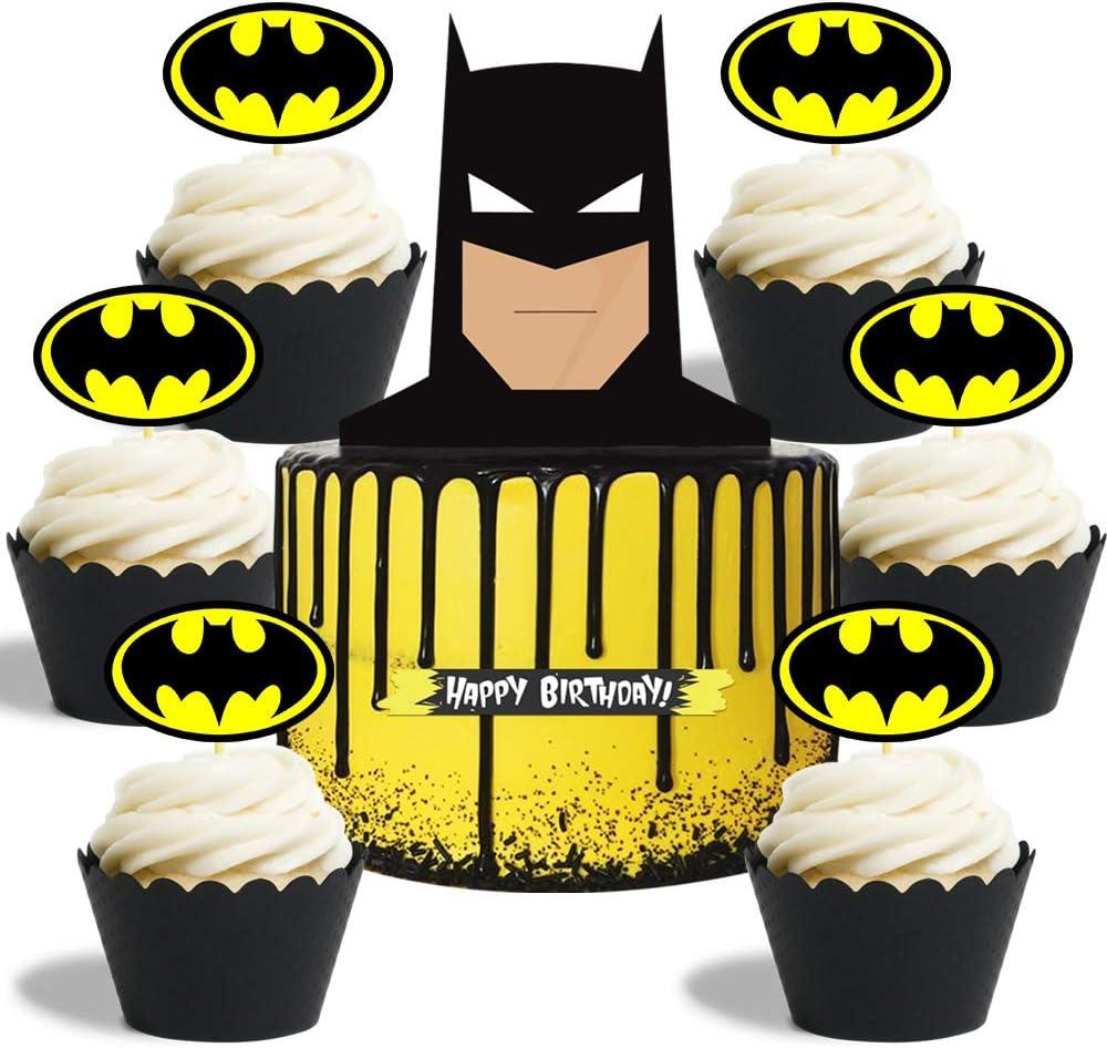 Batman Birthday Cake Candles 6 pc