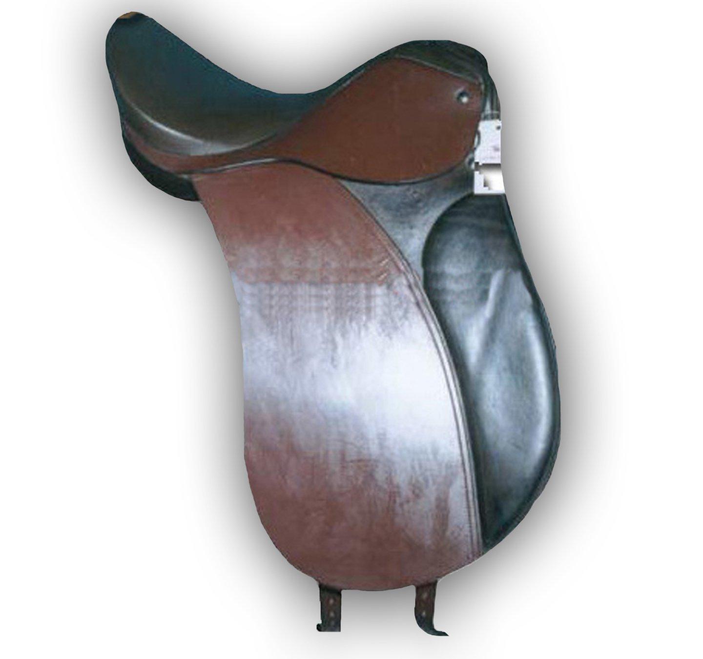 ブラウンDDレザーDressage Horseサドル   B07CBNSC3K