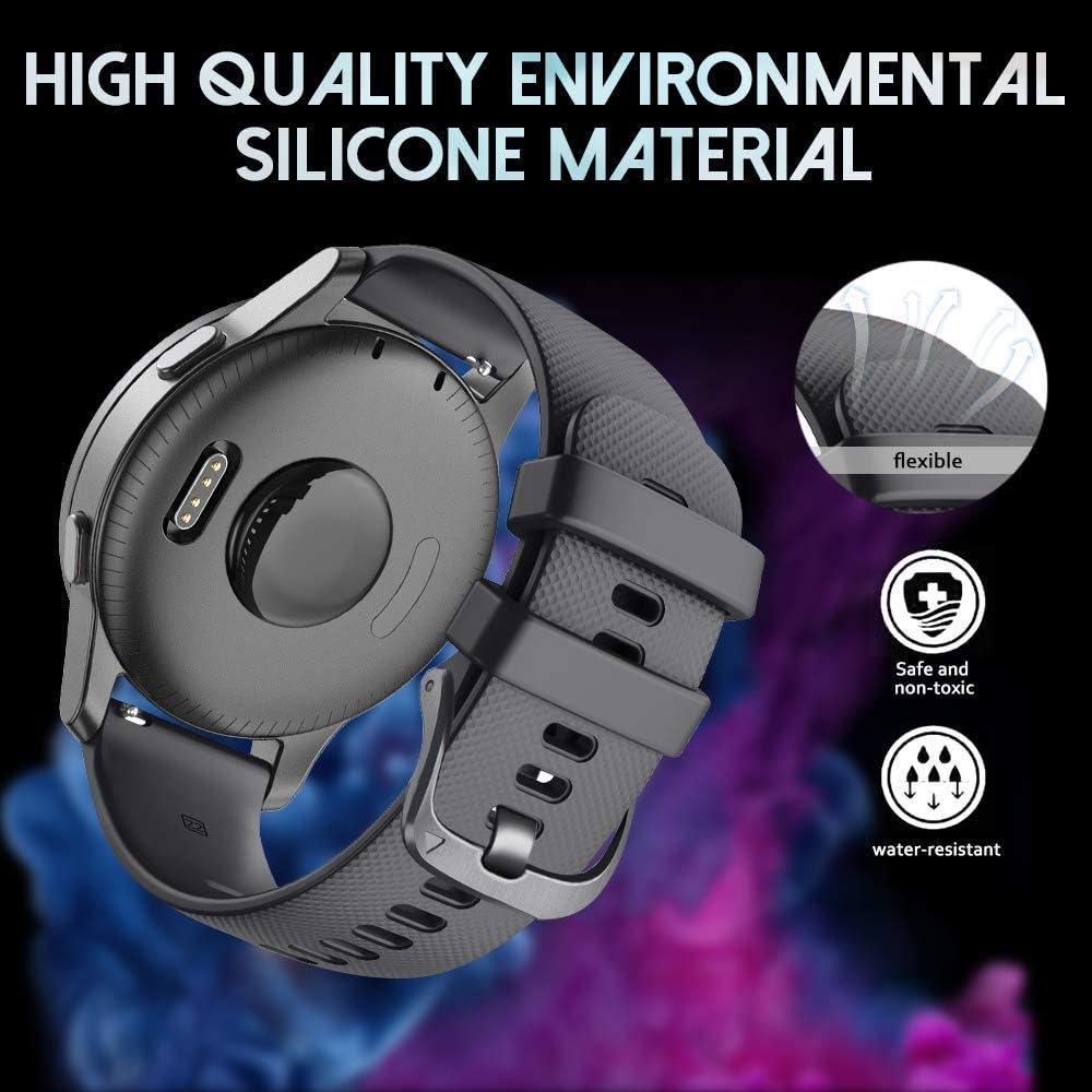 Malla para reloj Vivoactive 4 GPS / Gear S3 Classic (negro)