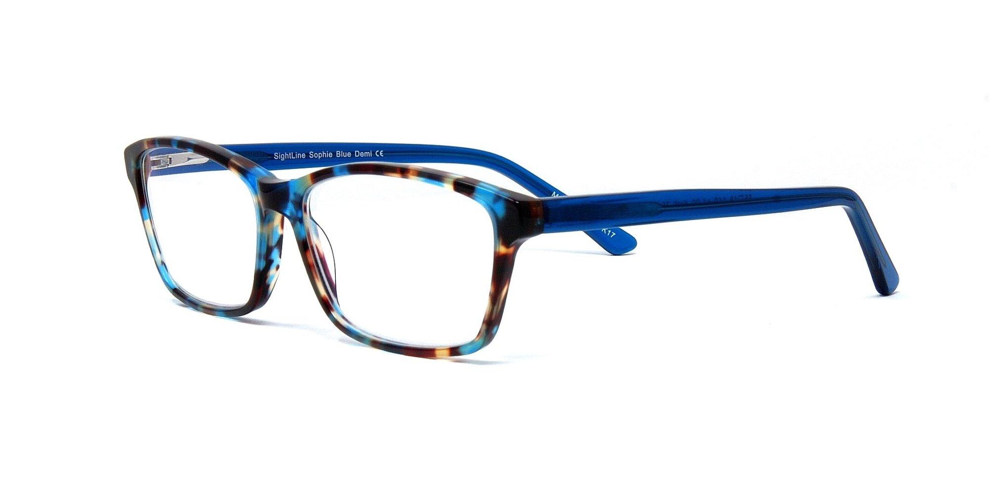 SightLine Sophie Handmade Multifocal Reading Glasses +2.50 Progressive Magnification Lenses With Anti-Glare Coating; Frame Size: 55-15/140