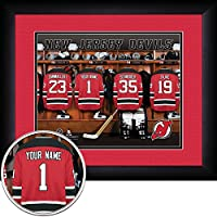 "Photo File New Devils Locker Room Jersey Frame Print, 15"" x 18"""