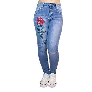 56e9b2f7d6a20 Primtex Damen Jeanshose Gr. 44, himmelblau: Amazon.de: Bekleidung