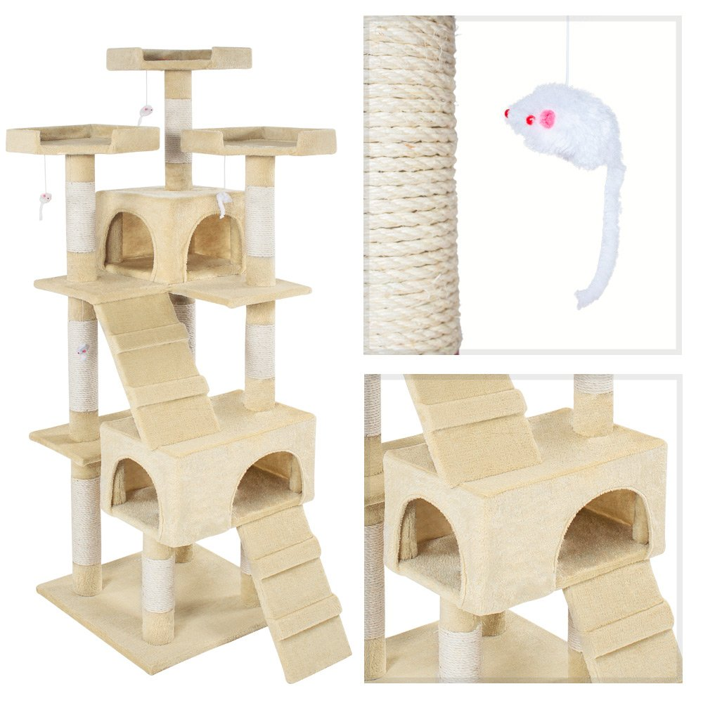 TecTake Rascador Árbol para gatos Sisal - disponible en diferentes colores - (Beige | No. 400928): Amazon.es: Productos para mascotas