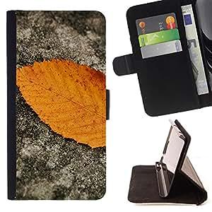 Devil Case- Estilo PU billetera de cuero del soporte del tir¨®n [solapa de cierre] Cubierta FOR Samsung Galaxy Note 4 SM-N910 N910 IV- Leaves