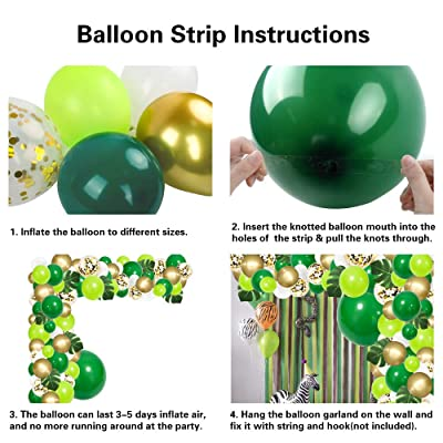 Birthday Party and Animal Theme Party Dinosaur Party RUBAC 134pcs Jungle Party Balloon Arch Green Balloon Decoration with Artificial Tropical Palm Leaves for Jungle Party