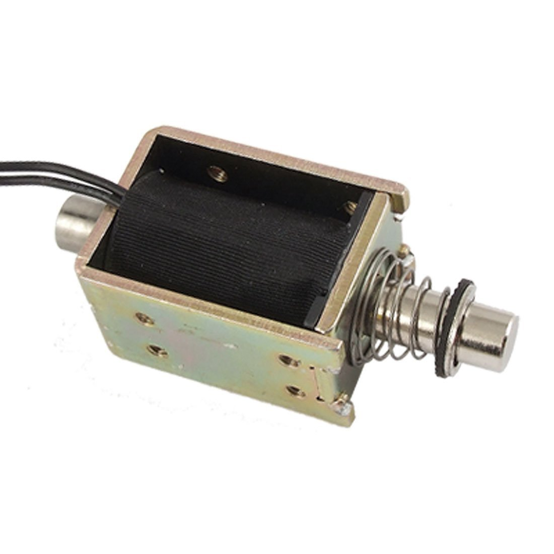 uxcell DC 24V 4mm Stroke Push Type Open Frame Linear Solenoid US-SA-AJD-02037