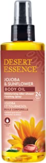 product image for Desert Essence Jojoba & Sunflower Body Oil - 8.28 Fl Ounce - Provides 24 Hour Moisture - Vitamin Enriched Shea Butter - Vitamin E - After Shower Finishing Spray - Rich Blend - Apricot Oil