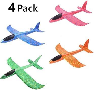 ypypiaol 4 Unids Avión Planeador Avión Aviones Aviones, Aviones Planeador Volando Espuma Modo Avión Aviones Duraderos para Niños Juguetes Deportivos Al Aire Libre 4 Piezas: Amazon.es: Juguetes y juegos