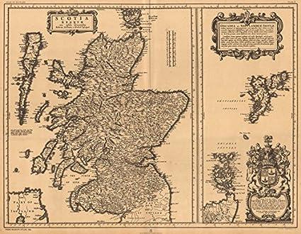Scotia Regnvm with Orcades et Shetlandicae Insvlae  Scotland BLAEU