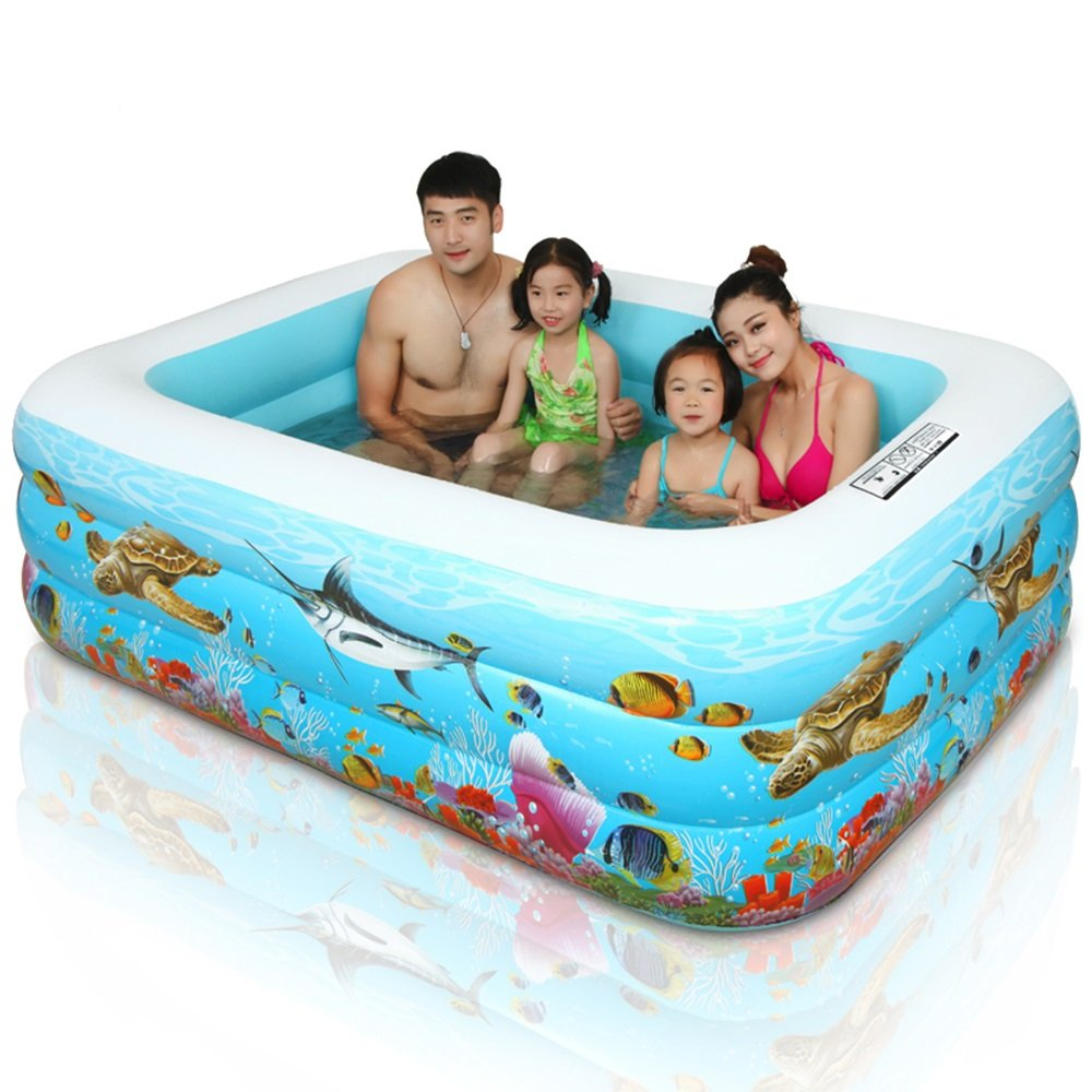 Die Badewanne Home Kinderplanschbecken Blau Maßerial  PVC Maßerial Größe  Ölein  110  75  35cm, Medium  125  90  50cm, Groß  200  140  53cm (Farbe   200cm The Basic Package)