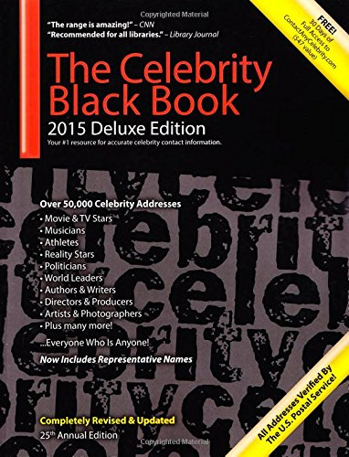 The Celebrity Black Book 2015: Over 50,000+ Accurate Celebrity Addresses for Autographs, Charity & Nonprofit Fundraising, Celebrity Endorsements, Getting Publicity, Guerrilla Marketing & More! Paperback – 1 Jan 2015 Jordan H McAuley ContactAnyCeleb