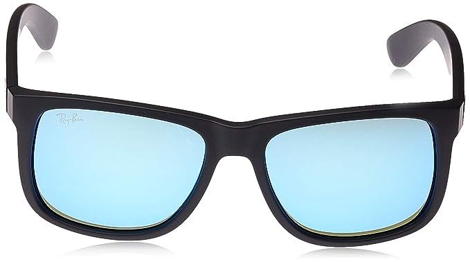 Ray-Ban Justin RB4165 - Gafas de sol Unisex, Negro (Blue 622/55), 55 mm