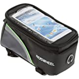 Generic Imported Cycling Bike Bicycle 4.8Inch Touch Screen Phone Bag Tube Frame Pouch Green