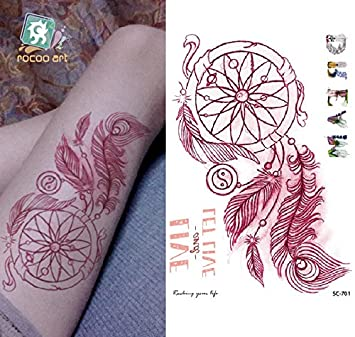Adhesivo de tatuaje temporal para arte corporal de rosa de los ...