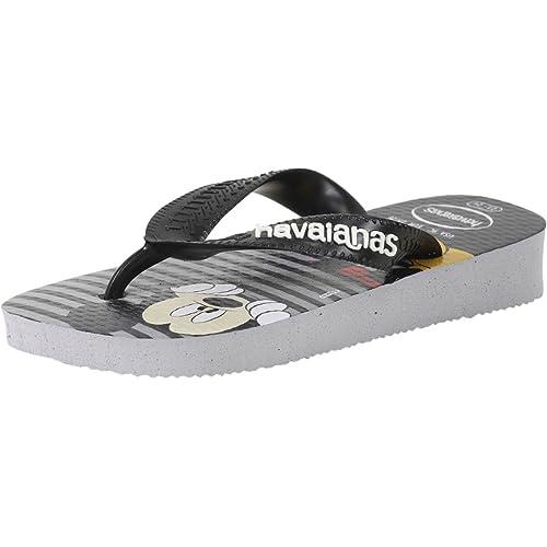 b92e4e08c5de4d Havaianas Little Boy s Disney Stylish Grey Flip Flops Sandals Shoes Sz  2Y