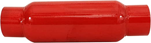 """OUTLET 29.5/"""" L CHERRY BOMB 87516CB RED GLASS PACK MUFFLER STRAIGHT 2.5/"""" INLET"""