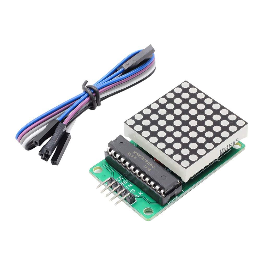 Rekkles MAX7219 Dot Matrix Module de Remplacement pour Arduino 4 dans Microcontroller Une Matrice LED Affichage 8x8