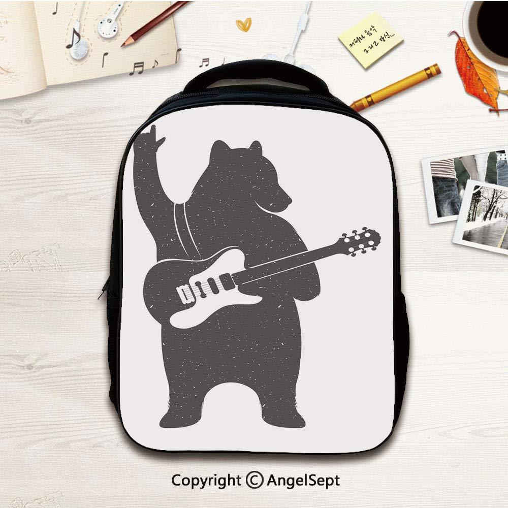 Kindergarten Mochila Escolar, Personaje de Oso músico con Guitarra ...